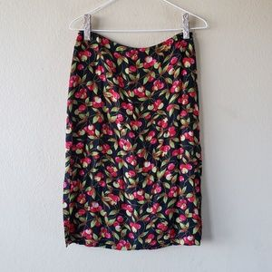 Vintage 90s Betsey Johnson Cherry Print Midi Skirt